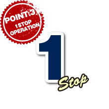 【POINT3・ONE STOP OPERATIONS】1STOP